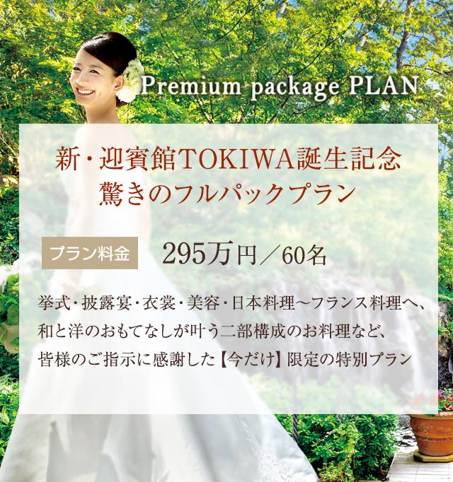 新・迎賓館TOKIWA誕生記念<br>驚きのフルパックプラン